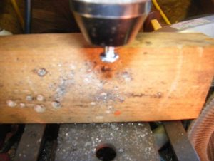 1/4 20 screw in the chuck of my drill press.