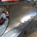 21 Shovel deflectors being welded in